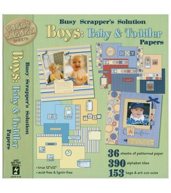 """Hot off the Press 12""""x12"""" Busy Scrapper's Solution-Baby&Toddler: Boy"""