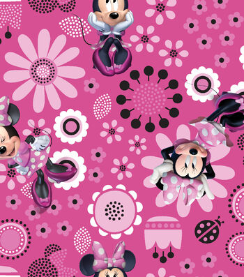 "Disney® Minnie Mouse Organza Fabric 56""-Allover"