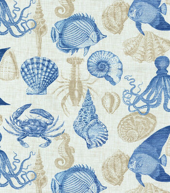 "Solarium Outdoor Fabric 54""-Sealife Marine"