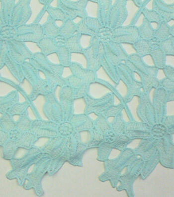 "Spring Sheen Cutwork Lace Fabric 43""-Mint Floral"