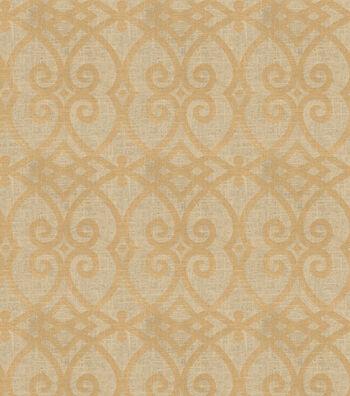 "Jaclyn Smith Upholstery Fabric 54""-Gatework Metallic-Rot/Gold"