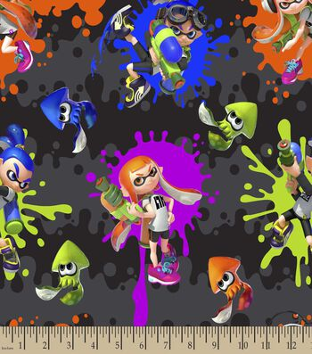 Nintendo® Print Fabric-Splatoon Action