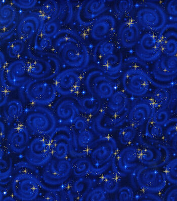 Premium Cotton Fabric 44''-Stars on Midnight