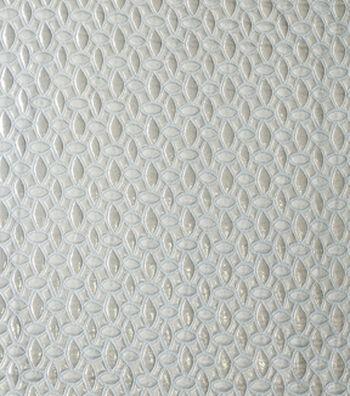 "Geometric Brocade Fabric 56""-Snow White & Gold"
