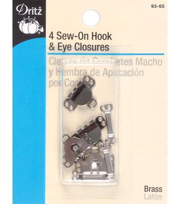 Dritz 0.63'' Skirt Hook &Eyes 4pcs