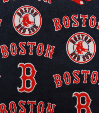 Boston Red Sox Fleece Fabric 58''-Tossed