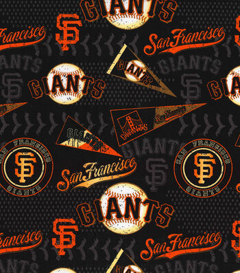 "San Francisco Giants Cotton Fabric 58""-Vintage"