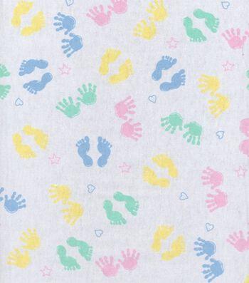 Snuggle Flannel Fabric 42''-Hand & Feet