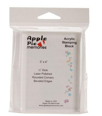 "Apple Pie Memories Acrylic Stamp Block-3""X4""X.5"""