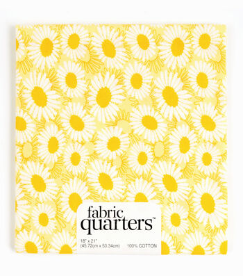 "Fabric Quarters Cotton Fabric 18""-Assorted Yellow"