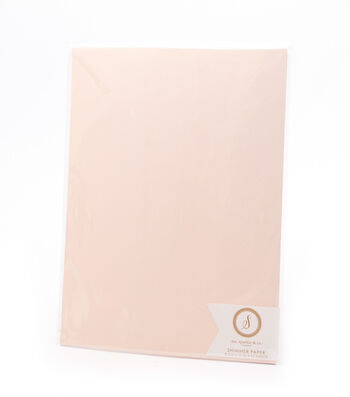 Ms. Sparkle & Co. Pack of 12 8.5''x11'' Shimmer Papers-Blush
