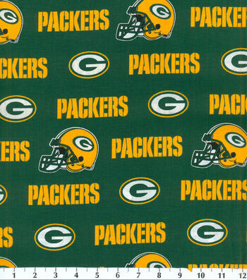 """Green Bay Packers Cotton Fabric 58""""-Green"""