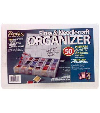 Deep Organizer Box With 50 Plastic Bobbins