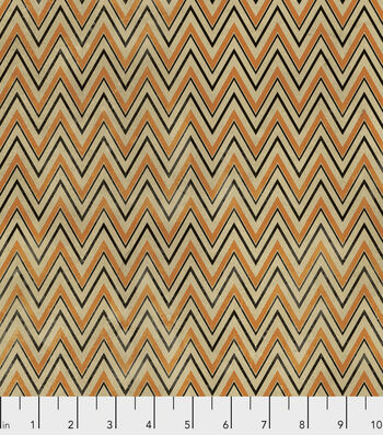 "Halloween Cotton Fabric 45""-Halloween Zigzag"