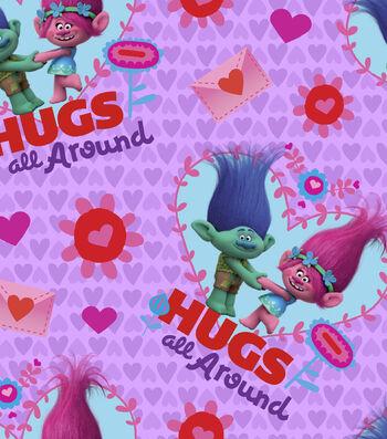 Valentine's Day Fabric 43''-Trolls Hugs All Around