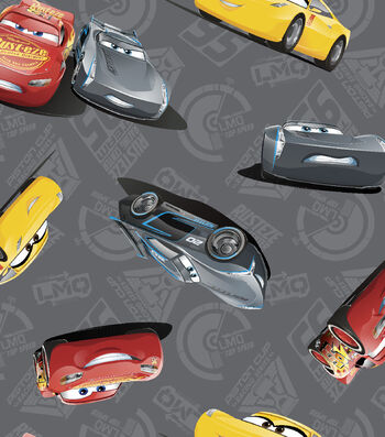 Disney® Cars 3 Cotton Fabric 43''-McQueen & Storm