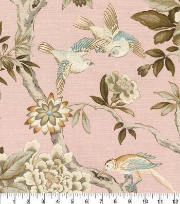 "Waverly Designer Upholstery Fabric 54""-Mudan Blush"