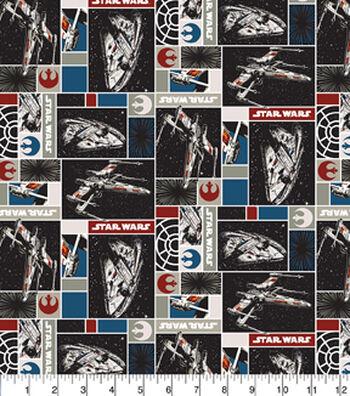 "Star Wars™ Cotton Fabric 44""-Rebel Ships"