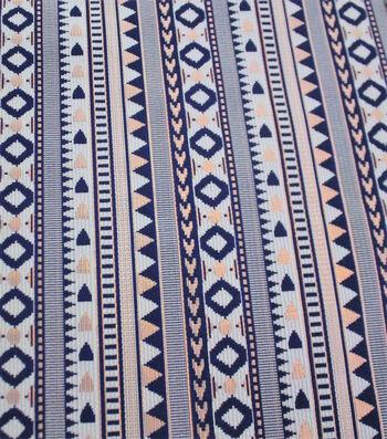 Earth Child Apparel Metallic Jacquard Fabric 57''-Mini Aztec