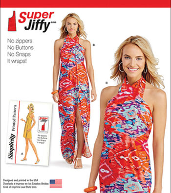 Simplicity Patterns Us1100A-Simplicity Misses' Super Jiffy Cover Up In Two Length-Xxs-Xs-S-M-L-Xl-Xxl