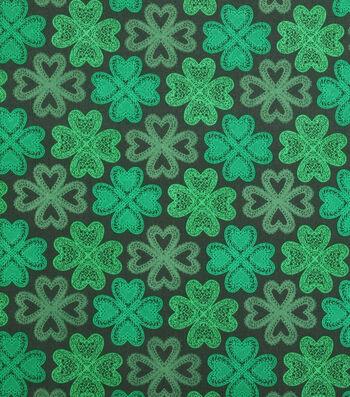 St. Patrick's Day Fabric 43''-Celtic Shamrocks