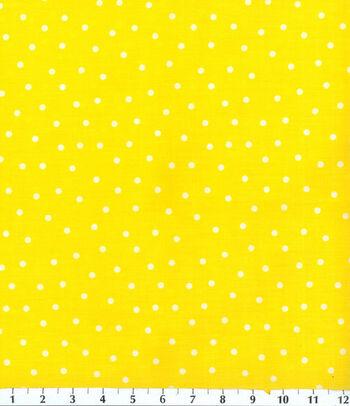 "Keepsake Calico™ Cotton Fabric 44""-Yellow Polka Dot"