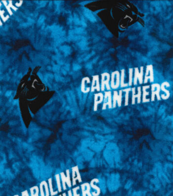 Carolina Panthers Fleece Fabric 58''-Tie Dye
