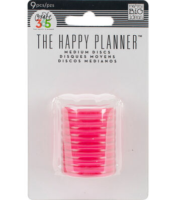 The Happy Planner Discs-Clear Hot Pink
