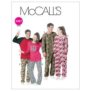 McCall's Pattern M6251 Adult Sleep & Lounge-Size L-XL