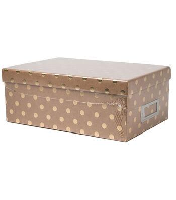 DCWV Kraft With Gold Dots Storage Box