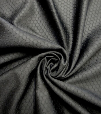 Cosplay by Yaya Han Stretch Fabric 59''-Black Scuba Hexagon