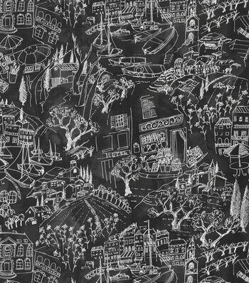 """Kelly Ripa Upholstery Fabric 54""""-Daily Sketch Ebony"""