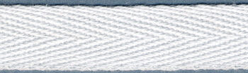 """Twill Tape 1/2"""" Wide 18 Yards-White"""