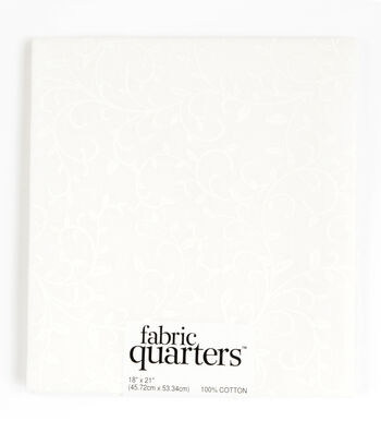 "Fabric Quarters Cotton Fabric 18""-Assorted White"