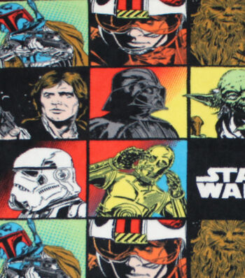 "Star Wars™ Fleece Fabric 58""-Character Block"
