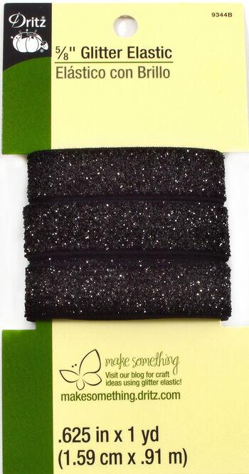 Glitter Elastic Black- 1 Yard