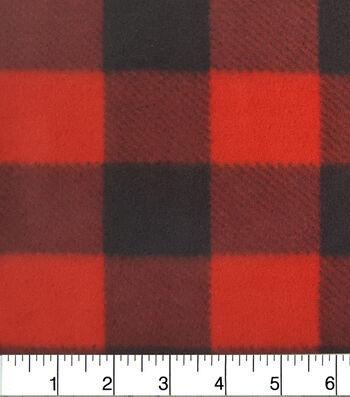 "Anti-Pill Fleece Fabric 59""-Red Buffalo Check"
