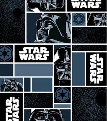 "Star Wars™ Fleece Fabric 58""-Darth Vaders in Blocks"