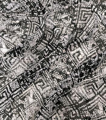 Earth Child Cotton Feel Apparel Fabric with Pom Pom 44''-Diamond Print