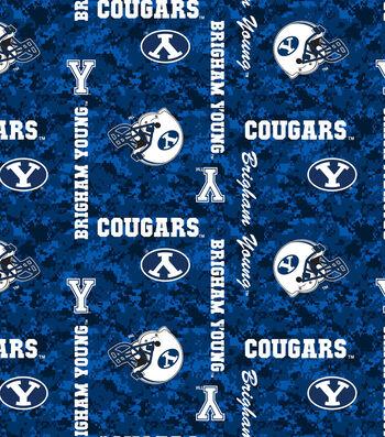 "Brigham Young University Cougars Fleece Fabric 43""-Digital"