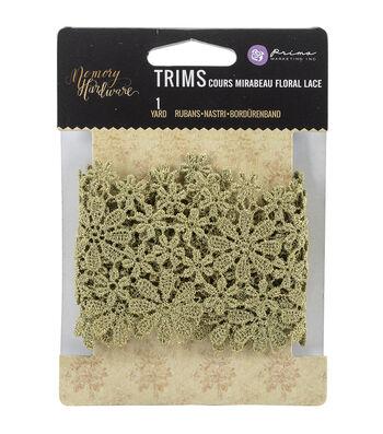 Prima Marketing Memory Hardware Floral Lace Trim-Floral Course Mirabeau
