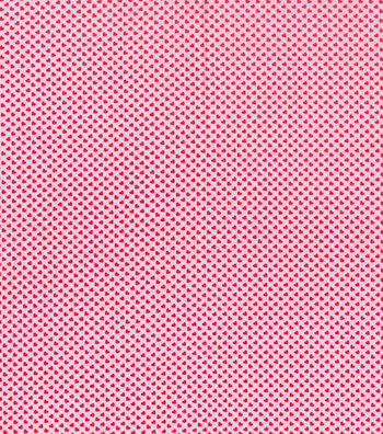 Valentine's Day Fabric 43''-Pink with Tiny Hearts