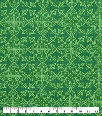 St. Patrick's Day Lucky Irish Print Fabric 43''-Celtic Medallions