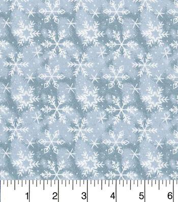 "Keepsake Calico™ Holiday Cotton Fabric 43""-Blue Snowflake"