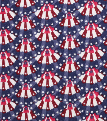 "Patriotic Cotton Fabric 43""-Mini Bunting"