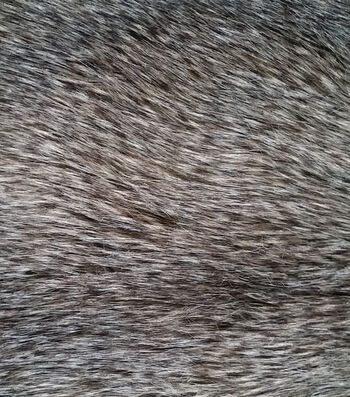 "Luxury Faux Wolf Fur Fabric 58""-Gray"