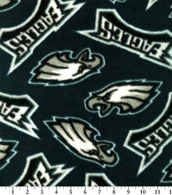 "Philadelphia Eagles Fleece Fabric 58""-Tossed"
