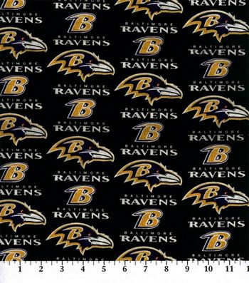 Baltimore Ravens Cotton Fabric 60''-Logo