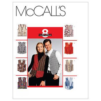 McCall's Pattern M6228 Adult Vests-Size XXL