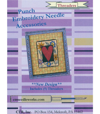 CTR Needleworks Punch Embroidery Needle Threaders